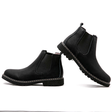 Ankle Round Toe Zip Sewing  Chelsea Boots