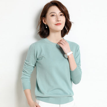 Ladies Knitted Sweater Women Pullovers Knit Jumper Spring Autumn