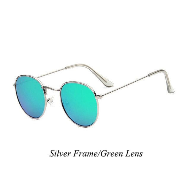 Sunglasses Women/Men Vintage Small Frame Round Brand Designer Metal