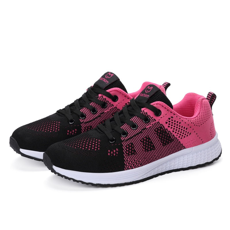 Woman Lace-Up Mesh Breathable Female Sneakers Zapatillas Mujer