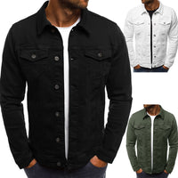 Men's Denim Jacket High Quality Cowboy Men's Jeans Jackets