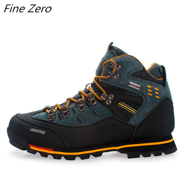 New Men's Boots Male Rubber Combat Ankle Work Safety Shoes