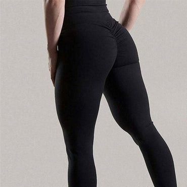 New Womens Leggings High Waist Solid Color Sexy Skinny Slim Elastic Workout