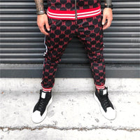 New Plaid 3d Printed BB Jogging Pants Men Fitness