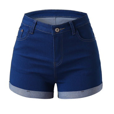Women Mid Waisted Washed denim shorts