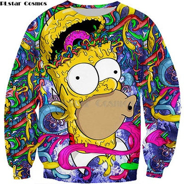 New the Simpson Printed Men Women 3D  Sweatshirts Quality