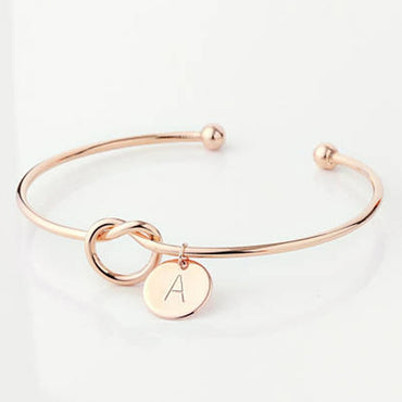 Fashion Name Female Jewelry Initial Alloy Letter Charm Bracelets For Women Girls