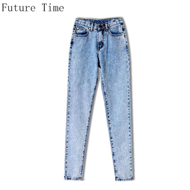 BF Loose New Women Jeans High Waist Ankle Length  Snow Casual Boyfriend Straight Pants 2018 Hot Sale Female Streetwear NZ242
