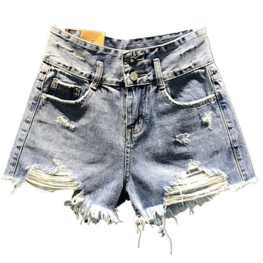2020 spring summer new fashion denim shorts high waist women