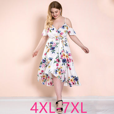 Female new summer plus size long slip dress for women