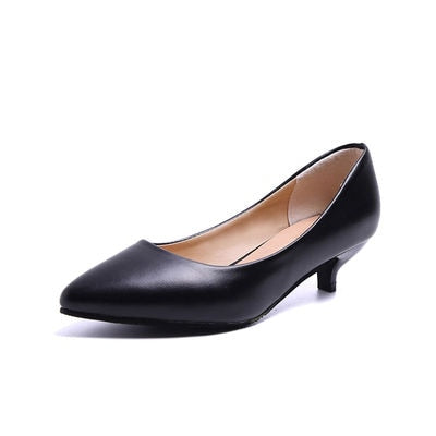 Professional Single Shoes Simple Comfort Work Shoes Black High Heels