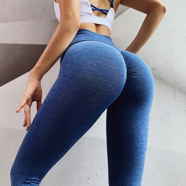Women Training Leggings Polyester Quality High Waist Push Up Elastic Casual