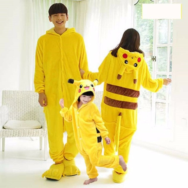 Pajama Adult Animal Pikachu Onesie Women Men Couple