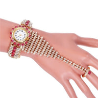 2020 Top Brand Luxury Clock Rhinestone Bracelet Watch Women