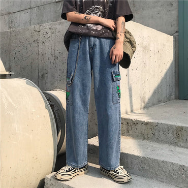 New Jeans for Women Harajuku Cartoon Jeans