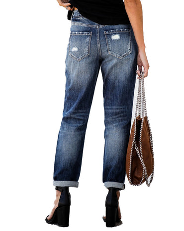 2020 New Ripped High Waist Retro Jeans for Women