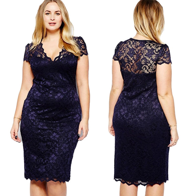 Lace Bodycon Cocktail Sexy Lady Formal Dress Cut Fashion Party