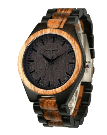 Customizable bottom cover wood watch Men Watch Stylish Wooden Timepieces Chronograph Quartz