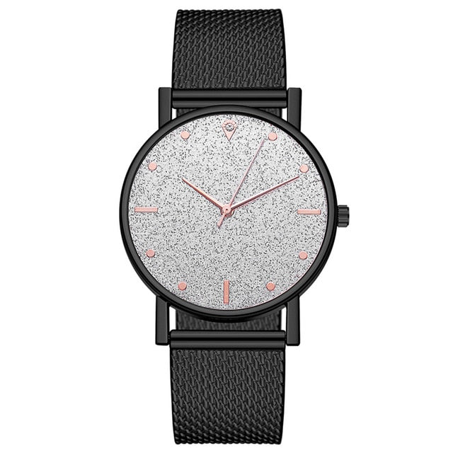Luxury Fashion Women Watches Quartz Watch Stainless Steel Dial
