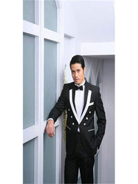Royal Blue Groom Tuxedos Peak Lapel Men Wedding Tuxedo