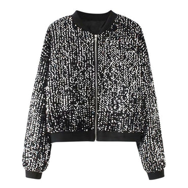 coats and jackets women winter Fashion Sequin Jacket
