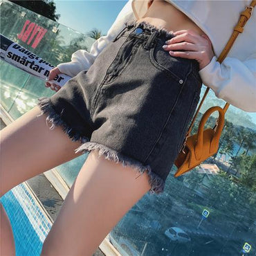Women High Waist Denim Shorts Summer Casual Feminino Slim Short Plus Size