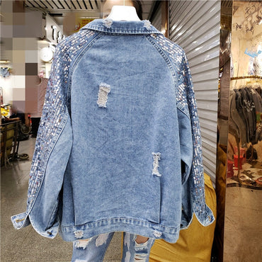 Spring and autumn women's denim jacket