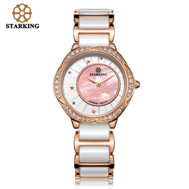 Luxury Women Watches White Ceramic Diamond