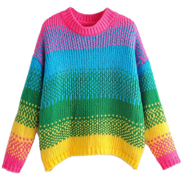 Candy Colorful Women Sweaters Autumn Long Sleeves Knit Female Pullovers