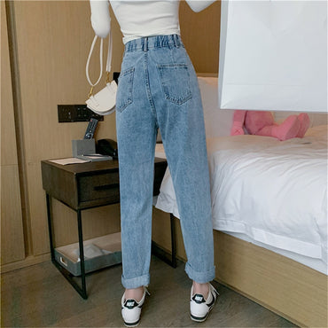 Woman Jeans High Waist Clothes Wide Leg Denim Clothing Streetwear Vintage Quality 2020