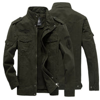 Cotton Military Jacket Men  Autumn Soldier MA-1 Style Army