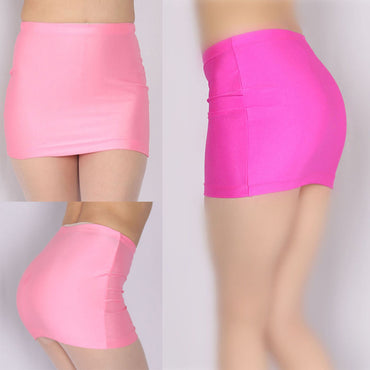Wetlook Elastic Sexy Package Hip Pencil Skirt High Waist Korean Skirt