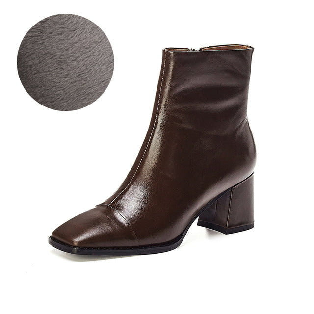 New Arrival Fashion simplicity Ankle Boots Rubber Riding Feminine Shoes High Heels Booties