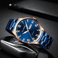 2020 New Men's Watch  Business Steel Belt Calendar Quartz Watch