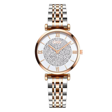 Luxury Women Alloy Watches Fashionable Ladies Diamond