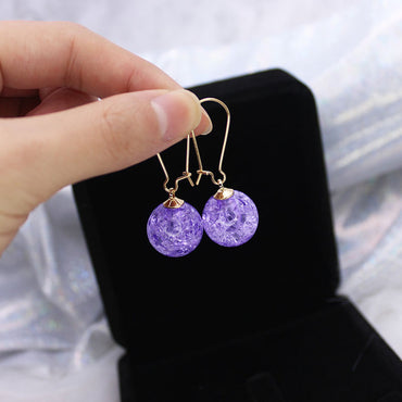 Acrylic Beads Drop Earrings for Women Simple Style Dangle Earrings