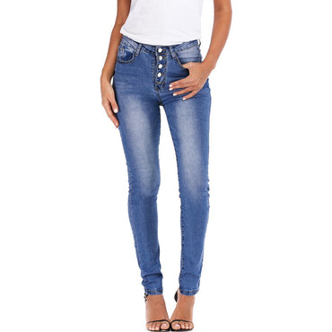 Autumn summer women's jeans Casual high-waist