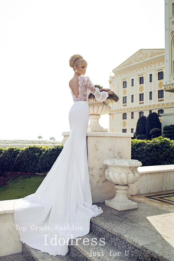 Best Selling Chiffon Wedding Dresses Mermaid Trumpet Sweetheart Lace A Gagodeal