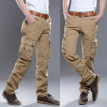 2020 Brand Mens Military Cargo Pants Multi-pockets Baggy
