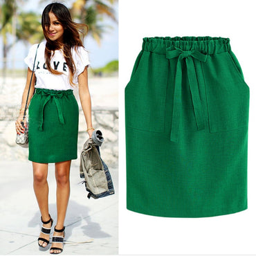 2020 New Spring Summer Elegant Midi Skirts Womens
