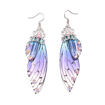 New Fashion Handmade Wing Drop Earrings Fairy Tale Cicada Wings Earrings Women