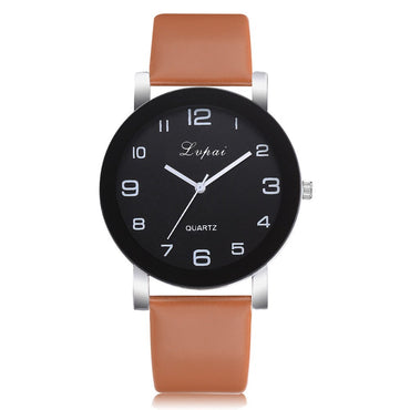 New Famous Brand Women Simple Fashion Leather Band Analog Quartz Round Wrist Watch