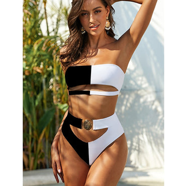 2020 Sexy High Waist Bikini Swimsuit Women Ruffle Swimwear