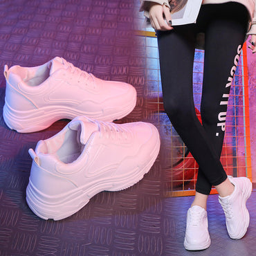 Women Casual Shoes  Leather Platform Shoes Women Sneakers