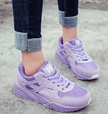 Fashion Purple Women Sneakers Platform Green Pink Trainers