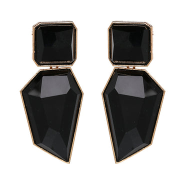 Women Trendy Geometric Acrylic Statement Drop Earrings