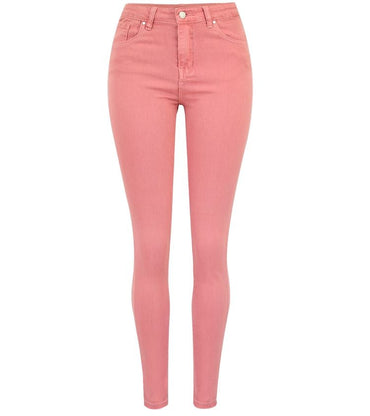 Hot Women jeans fashion Pink Stretch skinny