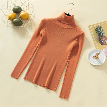 Knit Sweater Women Turtleneck Casual Pure Cashmere Pullover Autumn Winter