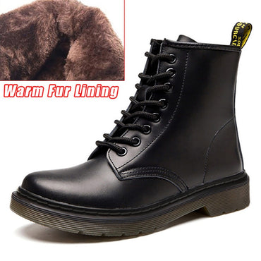 Genuine Leather Men Boots Motorcycle Boots Men