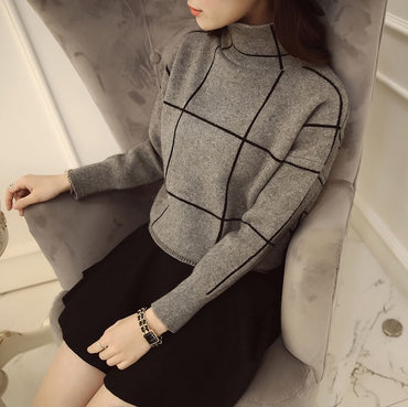 High quality winter turtleneck sweater thickening